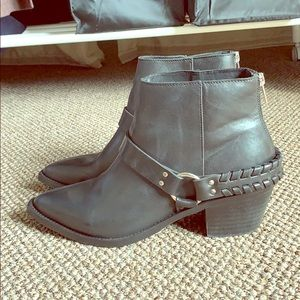 BRUSQUE WESTERN ROCKER LEATHER BOOTS 9,5
